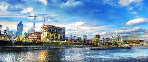 Construction in Montreal - Stock Photos, Pictures & Images