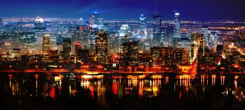 Montreal City in Double - Stock Photos, Pictures & Images