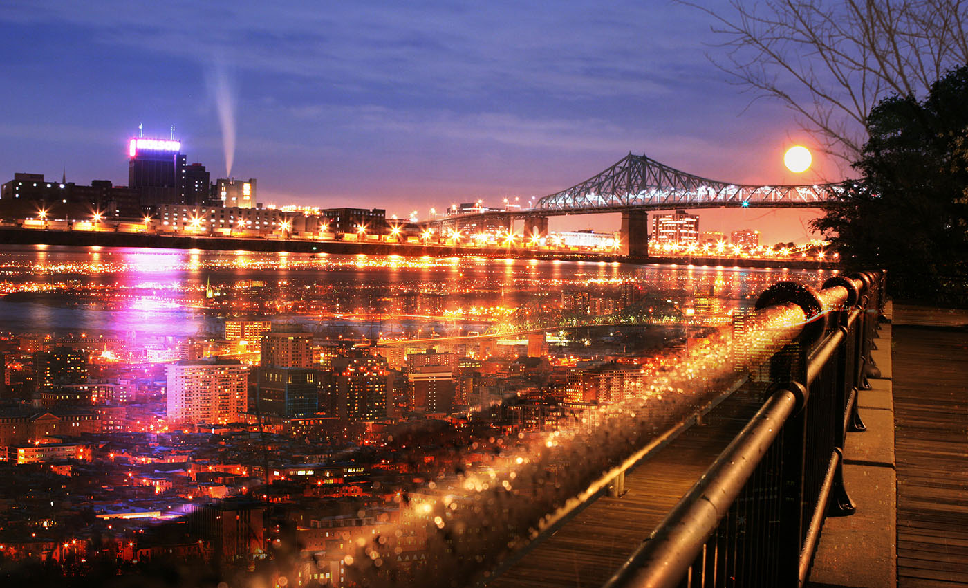 Montreal Jacques Cartier Bridge and River - Stock Photos, Pictures & Images