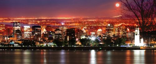 Montreal Skyline in a Beautiful Night - Stock Photos, Pictures & Images