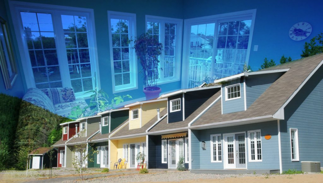 Resort Condos Photo Montage - Stock Photos, Pictures & Images