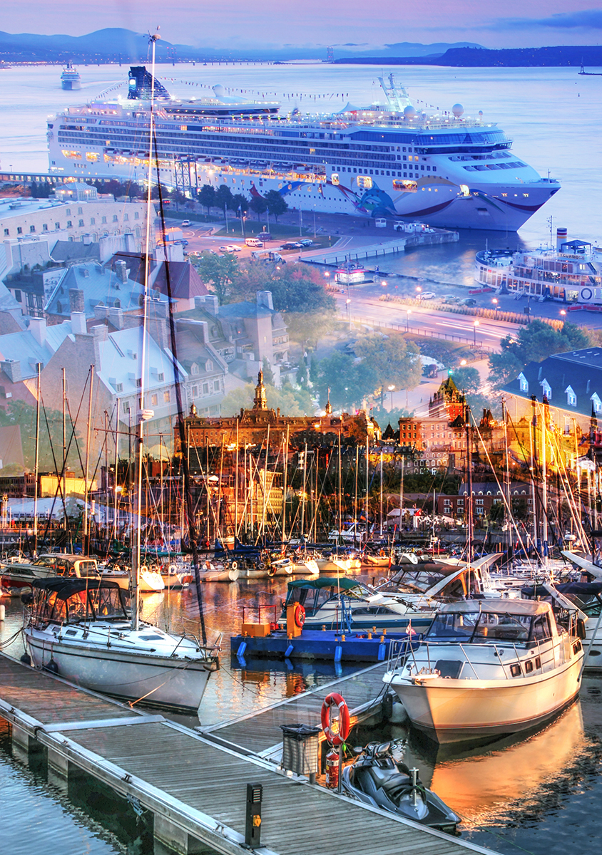 Urban Marina and Dock Photo Montage - Stock Photos, Pictures & Images