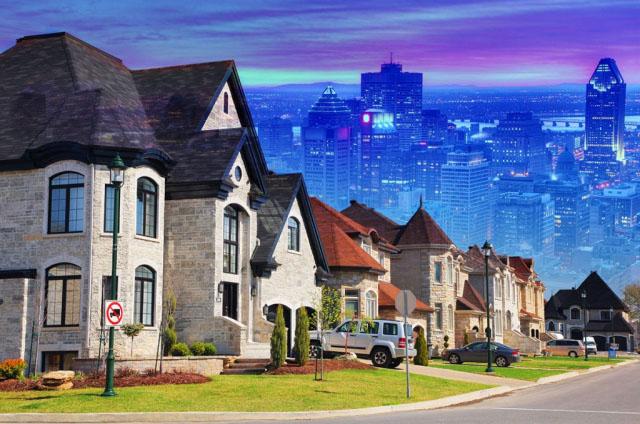 Urban Sprawl Photo Montage - Stock Photos, Pictures & Images