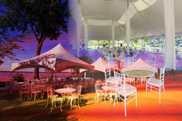 Celebration Tent Photo Montage - Stock Photos, Pictures & Images