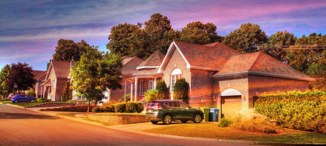 Cozy Neighborhood 01 - Stock Photos, Pictures & Images