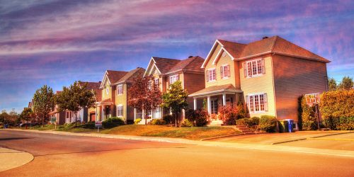 Cozy Neighborhood 02 - Stock Photos, Pictures & Images