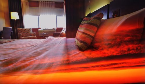 Sunset Bed Cover 1 - Stock Photos, Pictures & Images