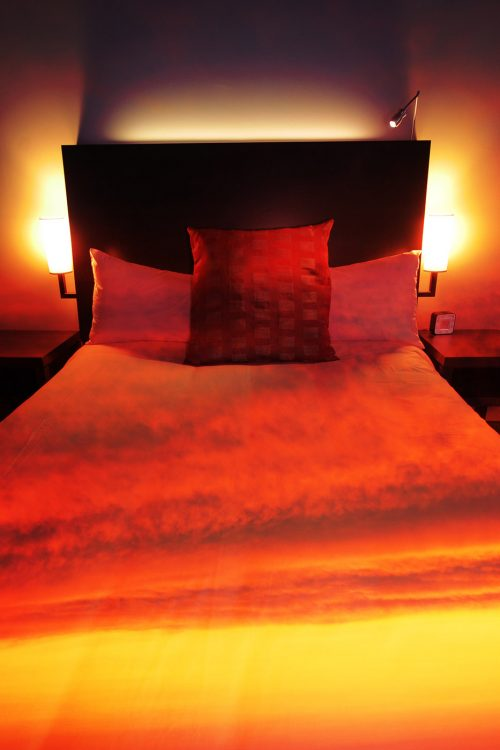 Sunset Bed Cover 2 - Stock Photos, Pictures & Images