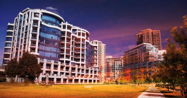 Urban Condominium Park - Stock Photos, Pictures & Images