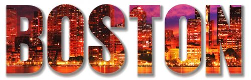 Boston City Text 1 - Stock Photos, Pictures & Images