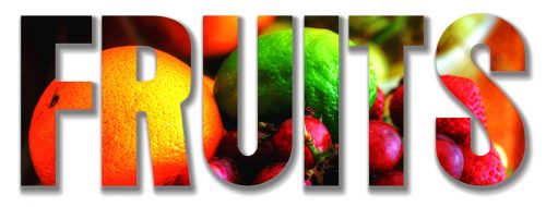 Fruits Text 1 - Stock Photos, Pictures & Images