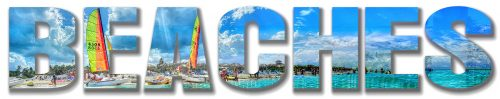 Beaches Text Photo Montage 1 - Stock Photos, Pictures & Images