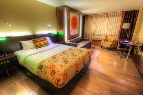 Colorful Hotel Room - Stock Photos, Pictures & Images