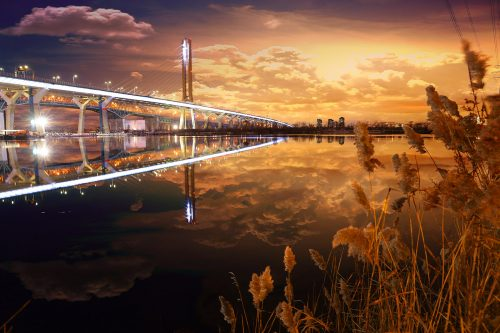 New Champlain Bridge in Montreal City - Stock Photos, Pictures & Images