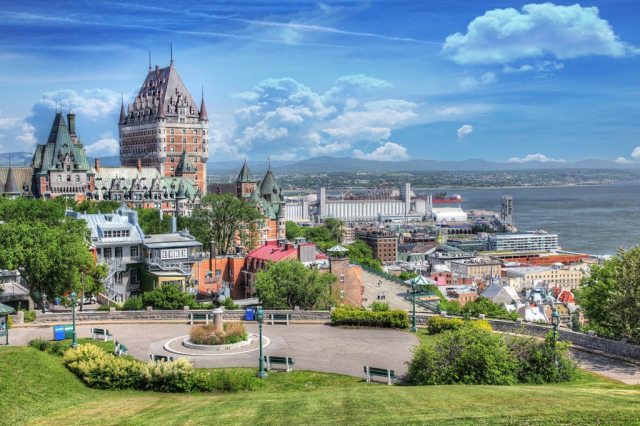 Old Quebec City District in Summer - Stock Photos, Pictures & Images