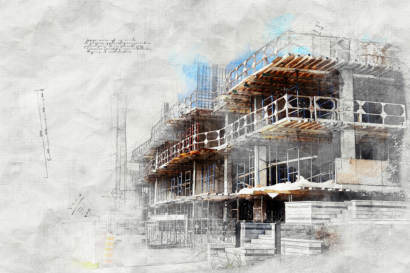 Construction Project Sketch Image - Stock Photos, Pictures & Images