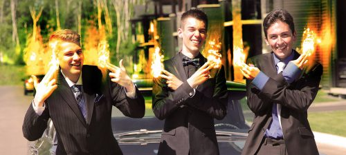Young Men with Fingers on Fire - Stock Photos, Pictures & Images