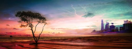Colorful Apocalyptic Landscape 06 - Stock Photos, Pictures & Images