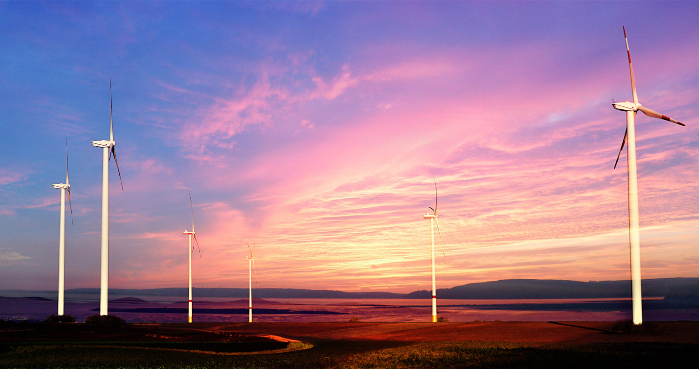 Windmills at Sunset 01 - Stock Photos, Pictures & Images