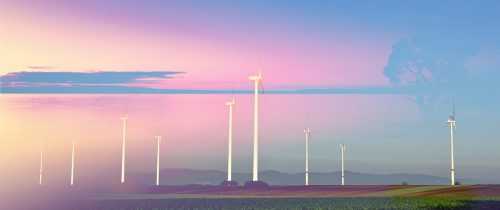Windmills at Sunset 02 - Stock Photos, Pictures & Images