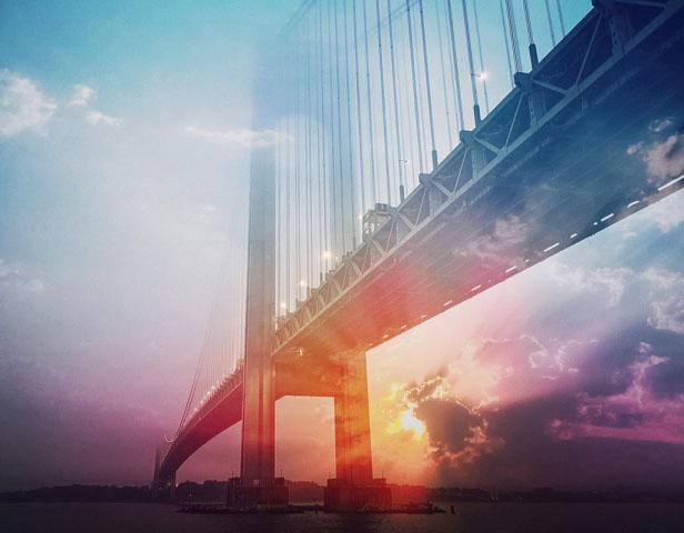 Surreal Suspension Bridge 01 - Stock Photos, Pictures & Images
