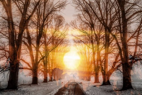 Wintery Road 01 - Stock Photos, Pictures & Images