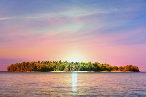 Peaceful Remote Island - Stock Photos, Pictures & Images
