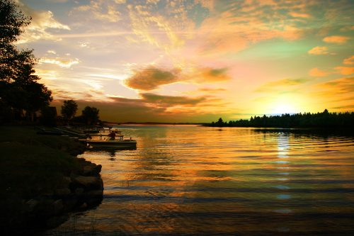 Perfect Sunset Lake - Stock Photos, Pictures & Images