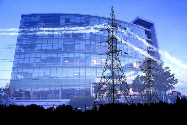 Business Electrification in Blue - Stock Photos, Pictures & Images