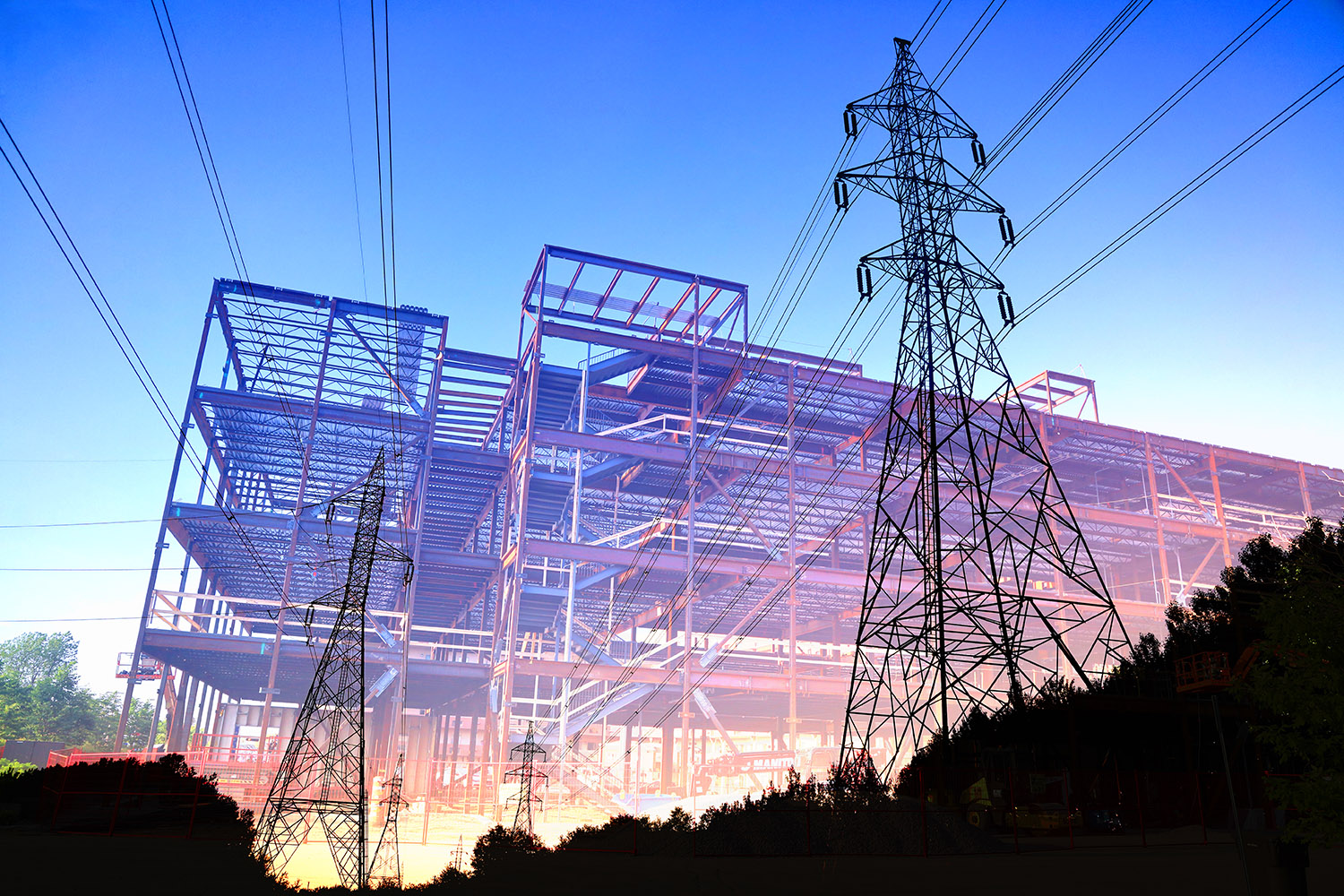 Construction Industry Electrification Concept - Stock Photos, Pictures & Images