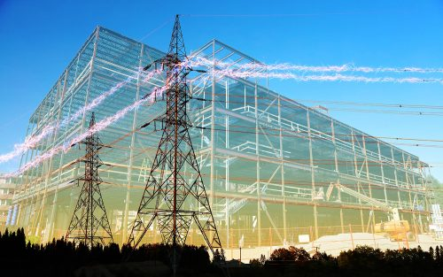 Large Construction Industry Electrification - Stock Photos, Pictures & Images