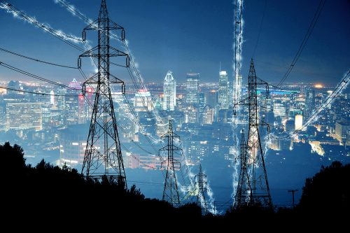 Metropolitan Electrification in Blue - Stock Photos, Pictures & Images