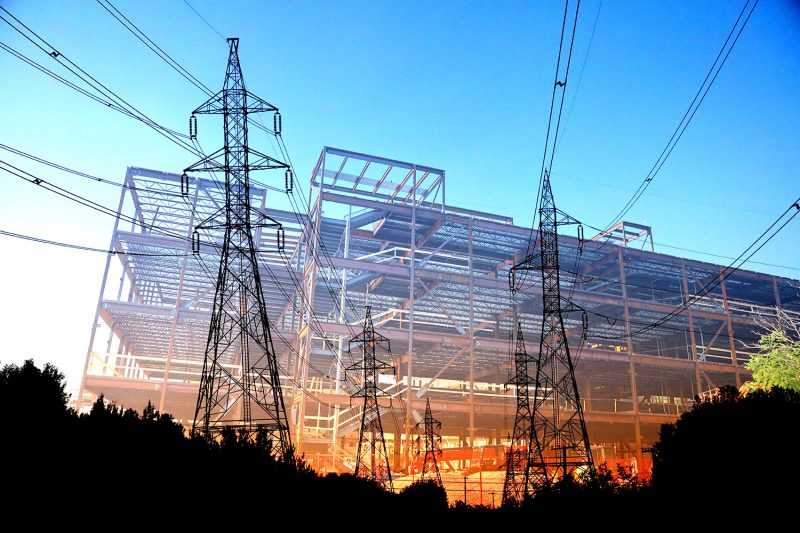 Modern Construction Industry Electrification - Stock Photos, Pictures & Images