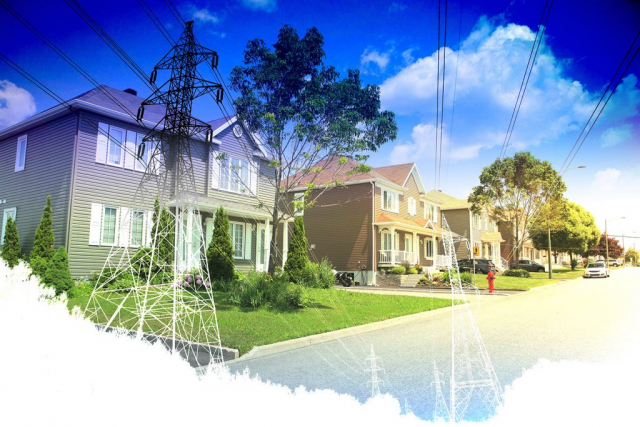 Residential Street Electrification on White - Stock Photos, Pictures & Images