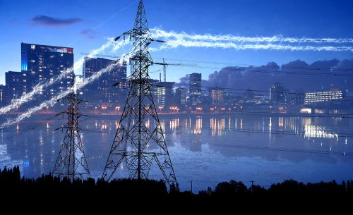 Urban Electrification in Blue - Stock Photos, Pictures & Images