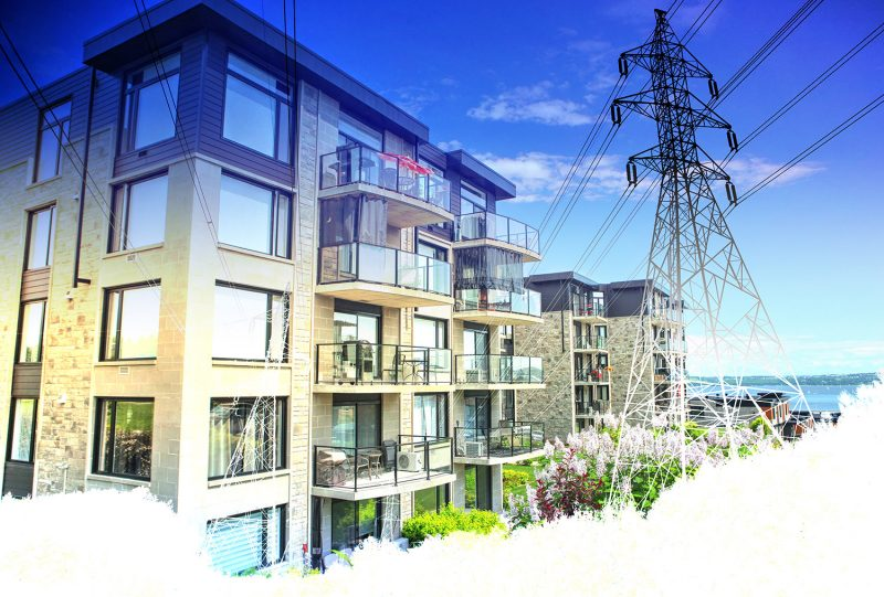 Urban Residential Electrification on White - Stock Photos, Pictures & Images