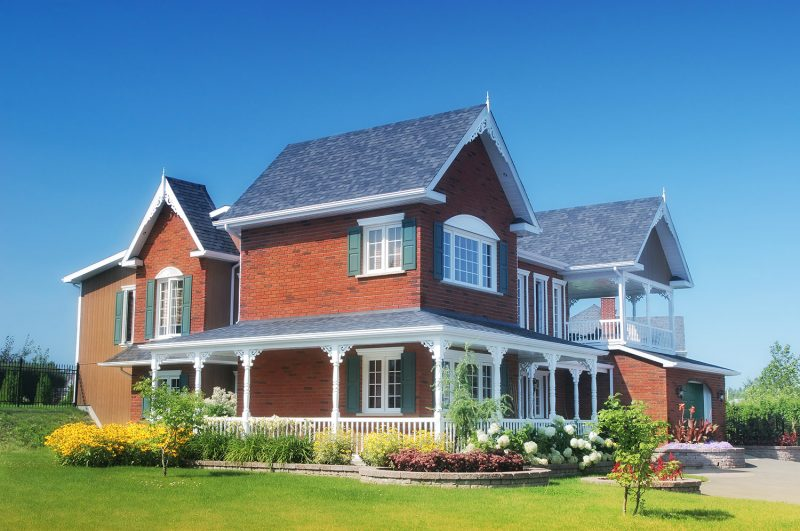 Large Rustic Style Brick House
