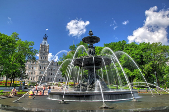 Tourny Fountain in the Canadian City Quebec